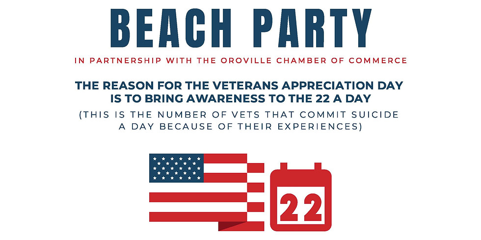 Beach Party:  Veteran-Adventures Awareness Of The 22 A Day Veterans Suicide Rate