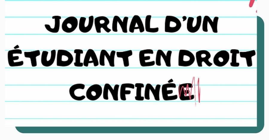 Journal etudiant droit confine