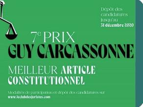 [Prix Guy Carcassonne] : Qui écrira le meilleur article constitutionnel et remportera 1 500 € ?