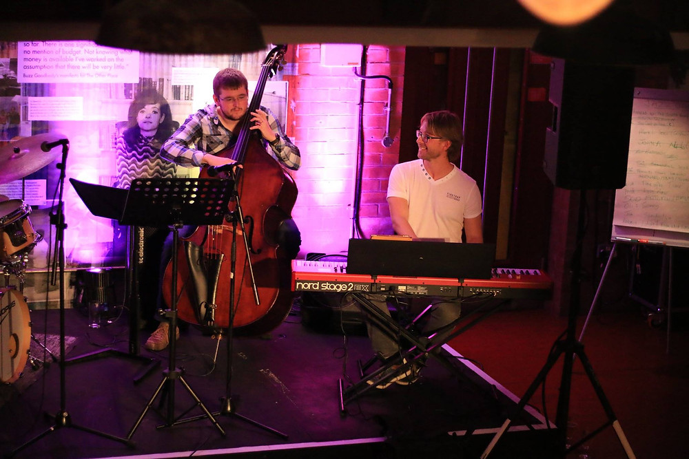 James Agg and Jay Riley at Stratford Jazz Jam at RSC's The Other Place