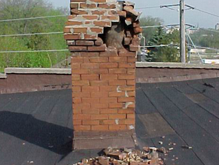 Unreinforced Brick Chimneys in a Earthquake