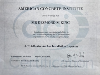 ACI / San Diego New Epoxy Inspector Certification