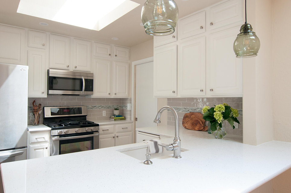 white kitchen invision design and build.