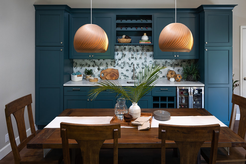 Santa Cruz Dining Room Teal Cabinets.jpg