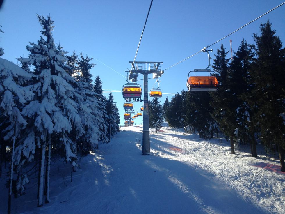 Skifahren an der tschechischen Grenze
