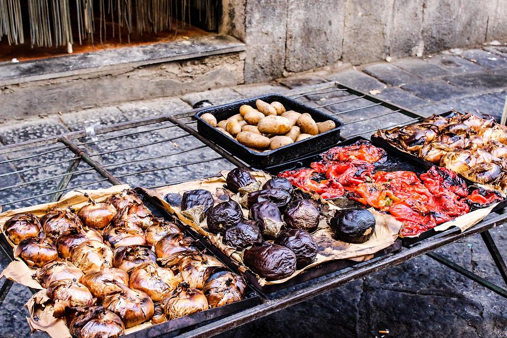 Wochenmarkt Catania, Essen in Sizilien