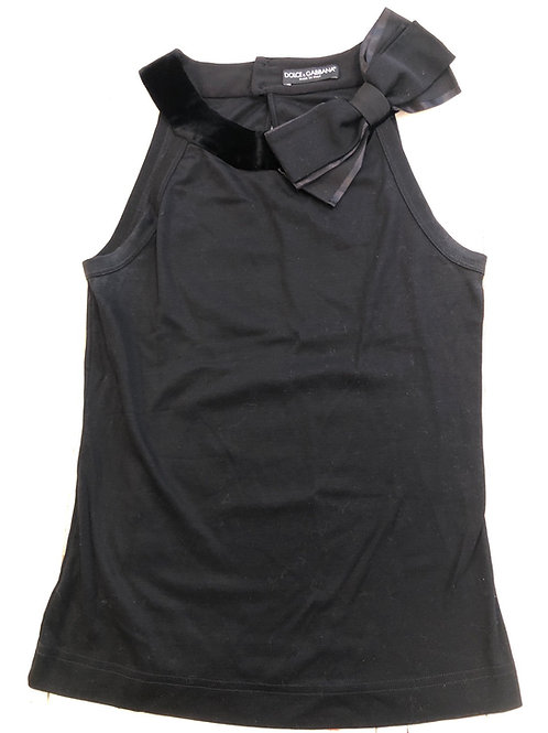 Dolce & Gabbana skeevless round neck top