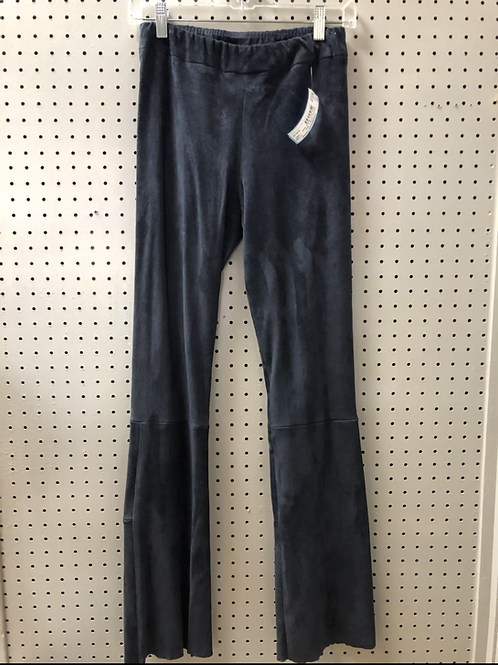 Shari's Place stretch suede boot cut pants.