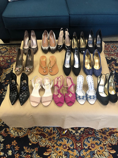 Lots of nice designer shoes in sizes 8,8.5 & 9