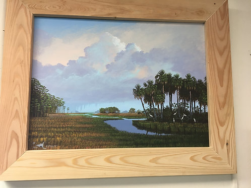 Acrylic Everglades painting
