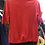Thumbnail: Moschino thin short sleeve sweater in beautiful red.