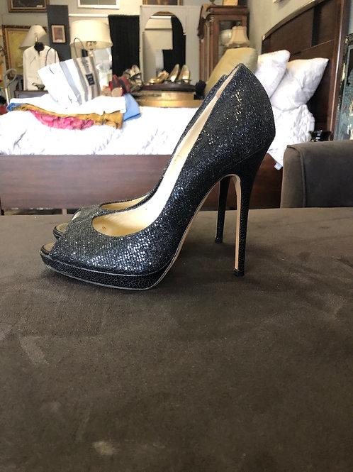 Jimmy Choo sparkle peep toe heels