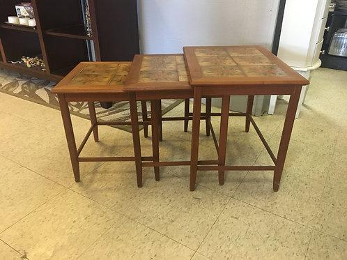 Mid century teak nesting tables