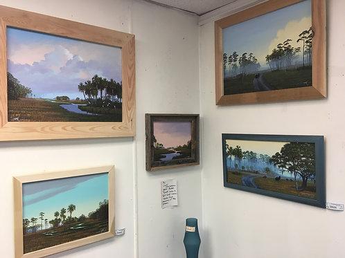 Oil paintings by Everglades artist Butch Pyatt.