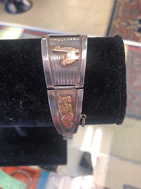 Peruvian made bracelet in .925 & 18K gold.