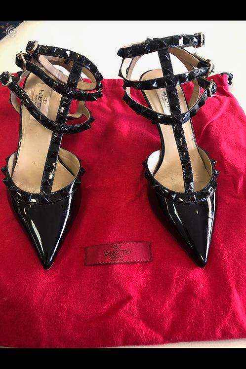 VALENTINO Strappy Low Heels Size 7.5