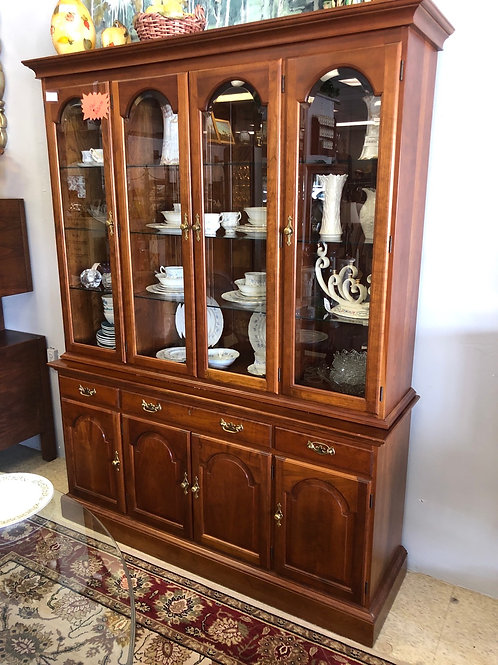 Stickley China Cabinet. 4 door with beveled glass.