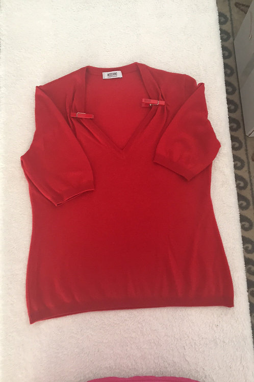 Moschino short sleeve v neck top