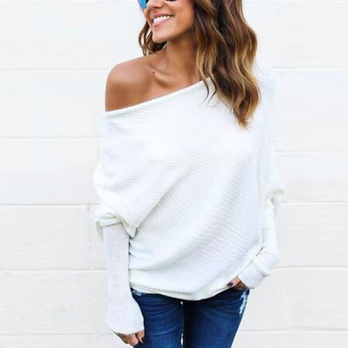 White Knit Long Sleeve