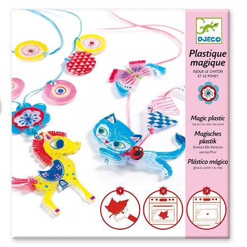Magisches Plastik Kätzchen und Pony / Djeco