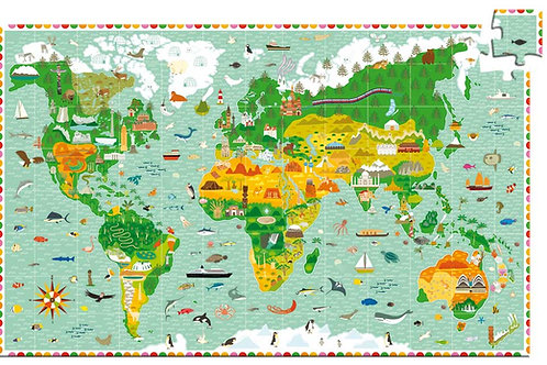 Puzzle Weltkarte/ Djeco