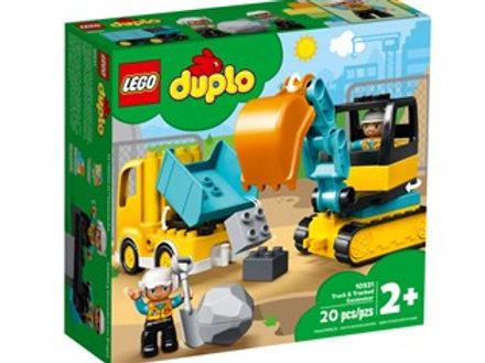 Lego Duplo -Bagger und Laster