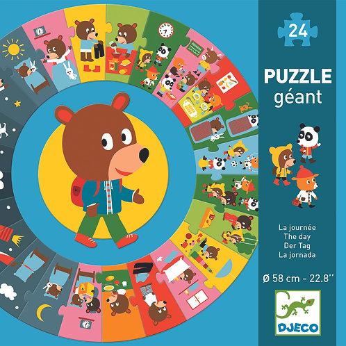 Riesenpuzzle Der Tag / Djeco