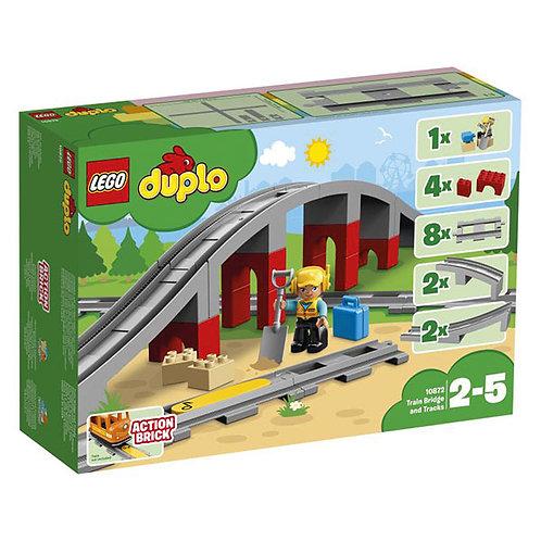 Lego Duplo - Eisenbahnbrücke  und Schienen
