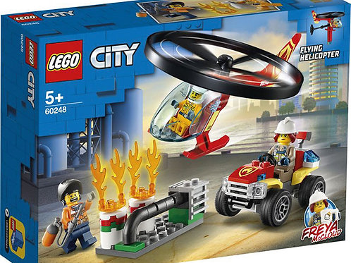Lego City -Einsatz mit dem Feuerwehrhubschrauber