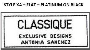 STYLE XA - FLAT, PLATINUM ON BLACK, 250 EACH