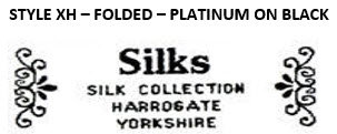 STYLE XH - FOLDED - PLATINUM ON BLACK