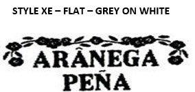 STYLE XE - FLAT - GREY ON WHITE