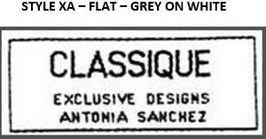 STYLE XA-FLAT,-GREY ON WHITE - 250 EACH