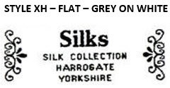 STYLE XH - FLAT - GREY ON WHITE