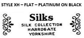 STYLE XH - FLAT - PLATINUM ON BLACK