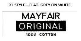 STYLE XL - FLAT - GREY ON WHITE
