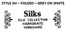 STYLE XH - FOLDED - GREY ON WHITE