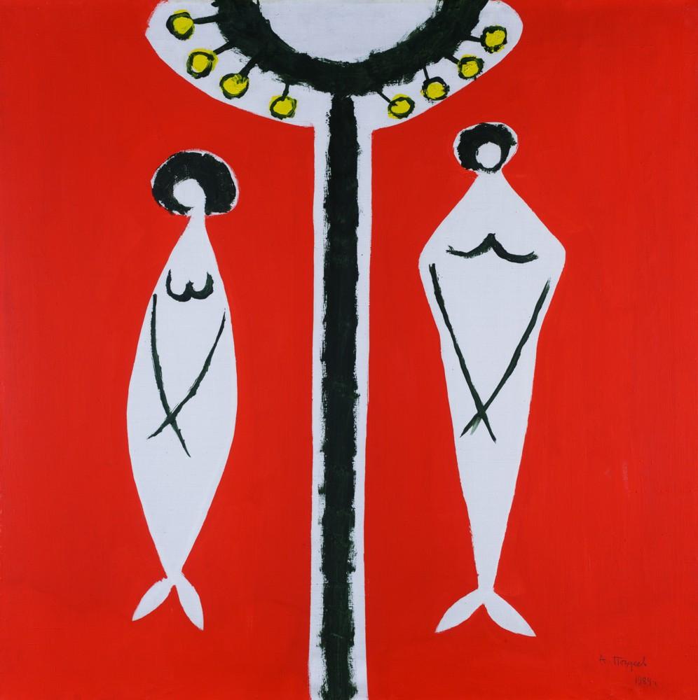 Адам и Ева. 1984 год. Автор Поздеев Андрей Геннадьевич(1926-1998). Холст, масло. Размер 80х80 см.