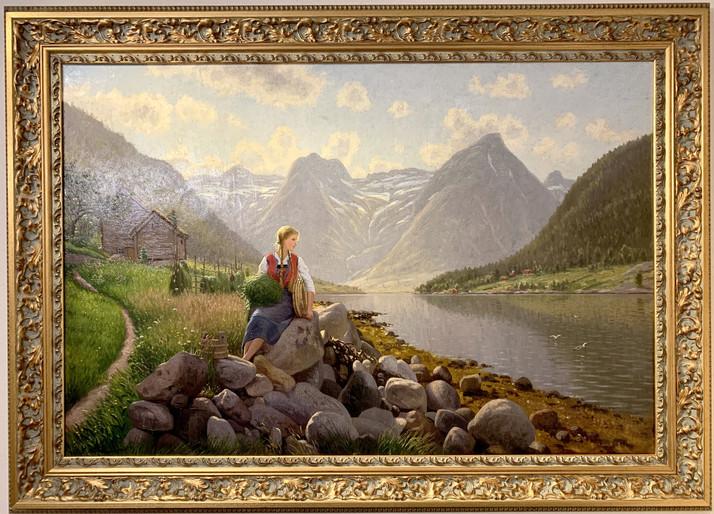 Девушка у реки.  Эмма Пастор Норманн (1871-1954)