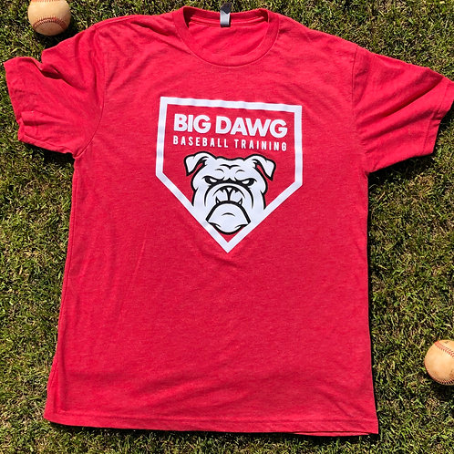 Red Big Dawg Baseball T-Shirt
