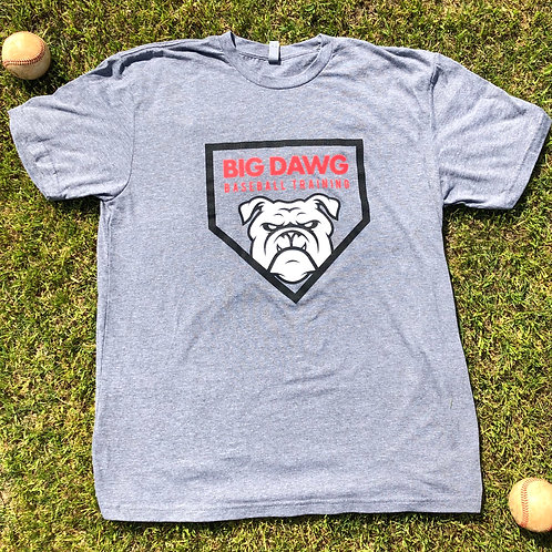 Grey Big Dawg Baseball T-Shirt
