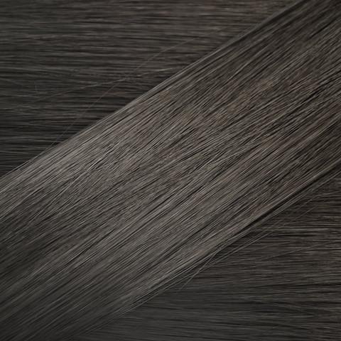 Cheveux brun foncé échantillon