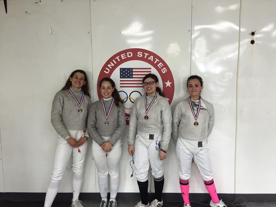 Women's Sabre Medalists