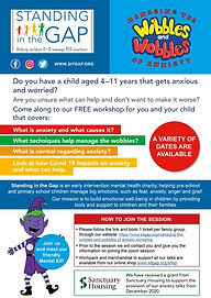 Managing anxiety for 4-11 year olds and