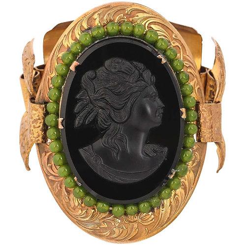 Victorian Revival c.1930's Glass Cameo Bracelet