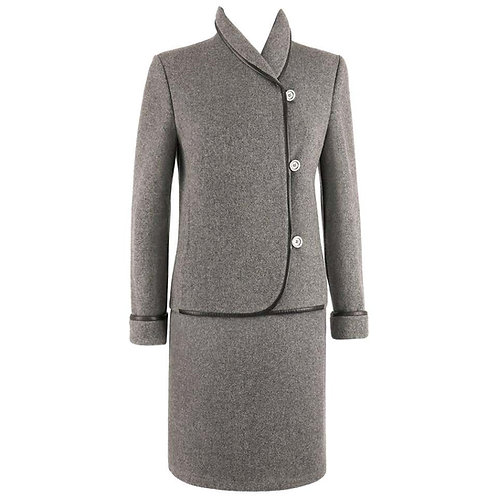 Hermes Boiled Wool Skirt Suit