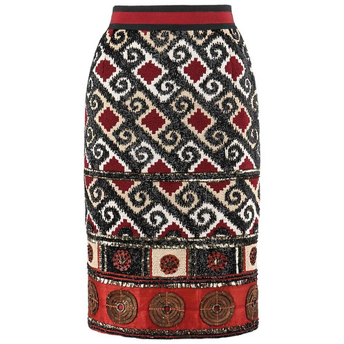 Oscar De La Renta Beaded Skirt