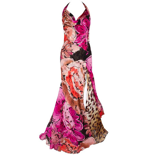 Gianni Versace Couture Silk Gown