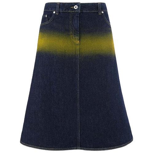 Alexander McQueen Spray Paint Denim Skirt