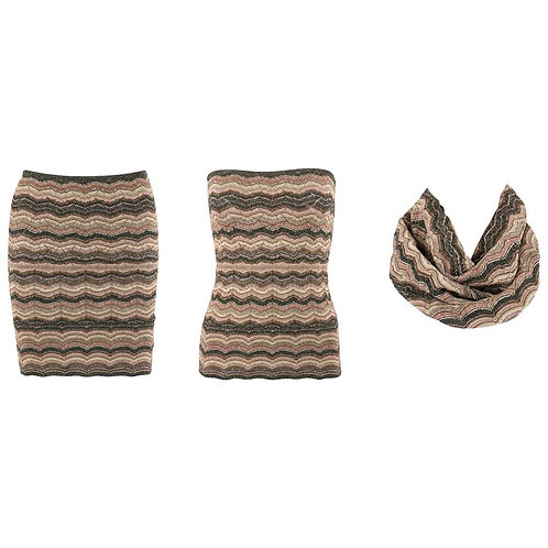 Missoni Convertible 3-in-1 Skirt Top Scarf